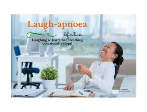 New Word:  #Laughapnoea